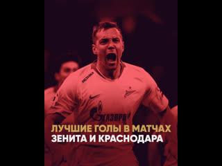 Топ-5 голов в матчах Зенит  Краснодар