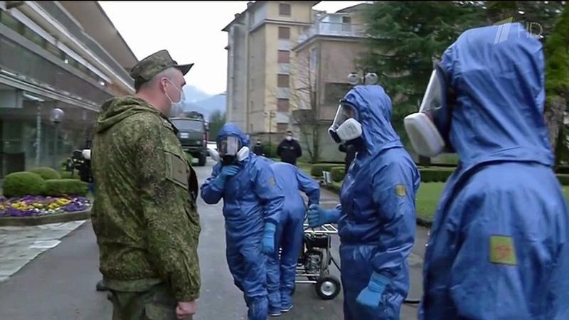 ВИталии напике пандемии наши военные медики вАмерику направлен самолет спомощью отРоссии Новости Первый канал