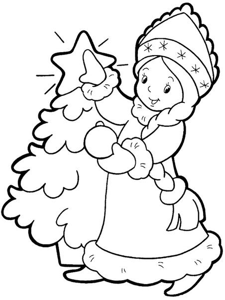 Какой же новый год без дедушки Мороза Детки с удовольствием придадут яркости этим картинкам