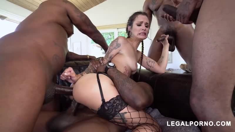 Luna Lovely Gangbang, Interracial, Lingerie, DP, Anal, Porn,