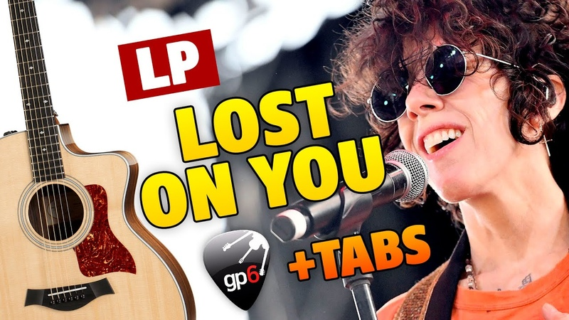 LP Lost On You fingerstyle guitar cover with FREE TABS and karaoke