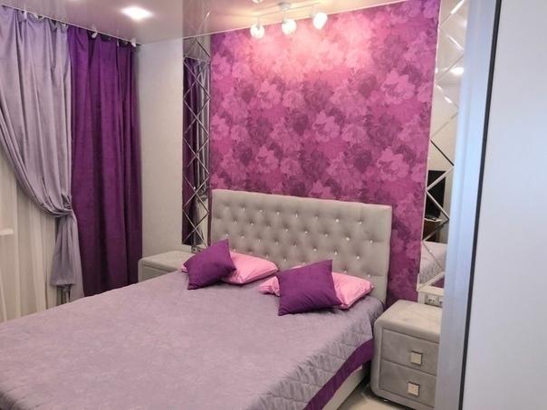 Неординарное для спальни цветовое решение, на которое я упросила мужа )) Наша ремонт