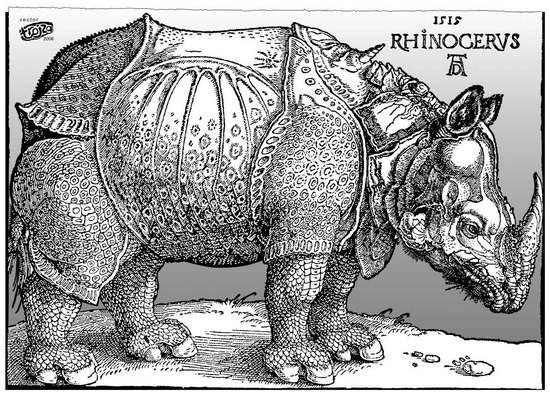 Партия Носорогов В течение 40 лет в канадских выборах участвовала Партия Носорогов. Ее основал карикатурист Жак Феррон. Выбор символа он объяснил тем что политики такие же малоподвижные и тупые
