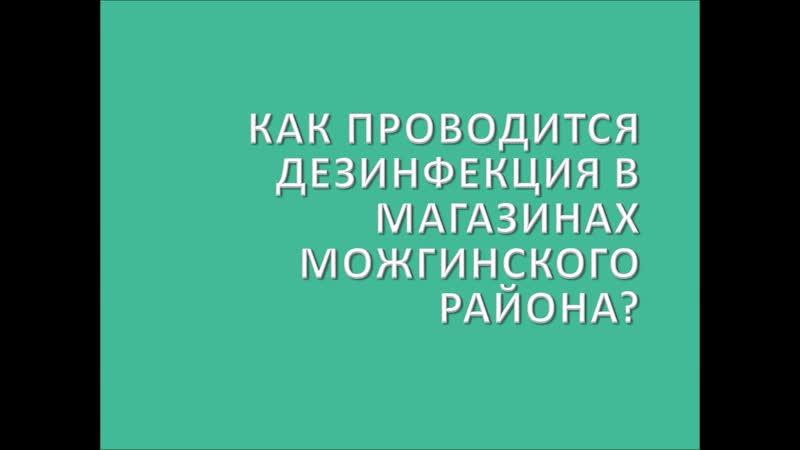 Как проводится дезинфекция в магазинах Можгинского района?