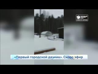 Первый городской дачник скоро в эфире. Новости Кирова. 13 .