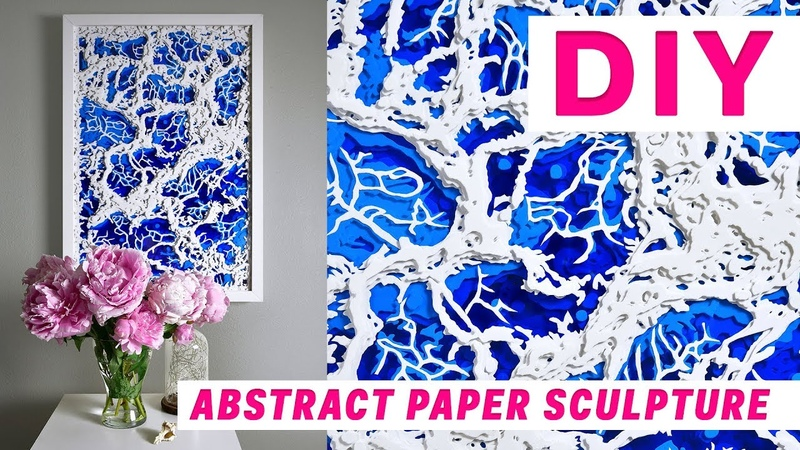 Abstract paper sculpture Time lapse OLGA SKOROKHOD