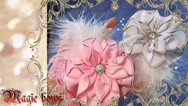 An original headband with a large lush flower on your babys head.DIY ribbon bows.