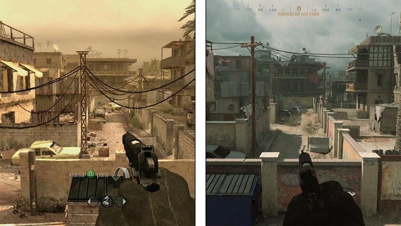 Call of Duty Modern Warfare Backlot Map Comparison 2007 2019