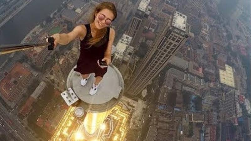 Fearless Roofer Angela Nikolau No limit no control VERY CRAZY