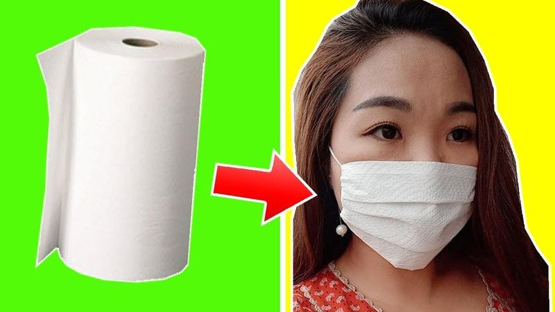 紙マスクの作り方   DIY Easy mask  How to make a mask handmade - Part 3   TỰ LÀM KHẨU TRANG BẰNG GIẤY ĂN