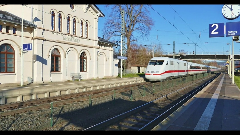 Kleiner Bahnhof FelsbergGensungen in Nordhessen - Aber mit ICE 1 Durchfahrt !!