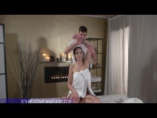 Jolee Love - Big tits German gives oily tit wank