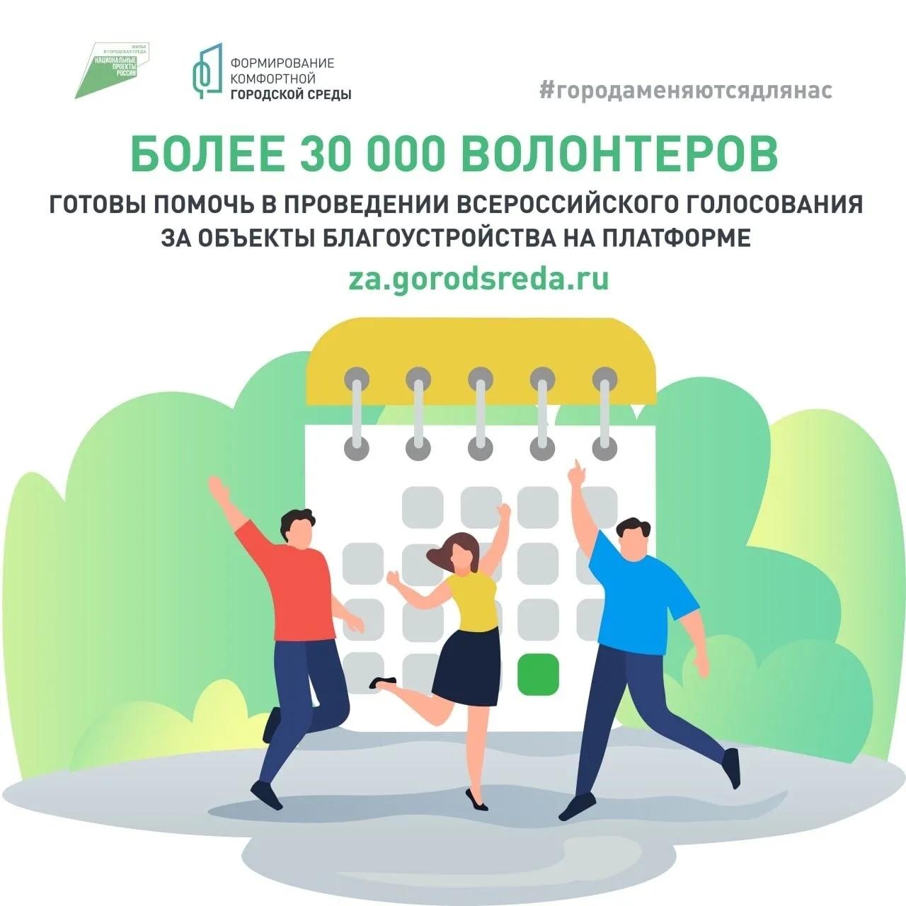 В Саратовской области 850 человек зарегистрировались волонтёрами для поддержки общероссийского голосования за проекты благоустройства