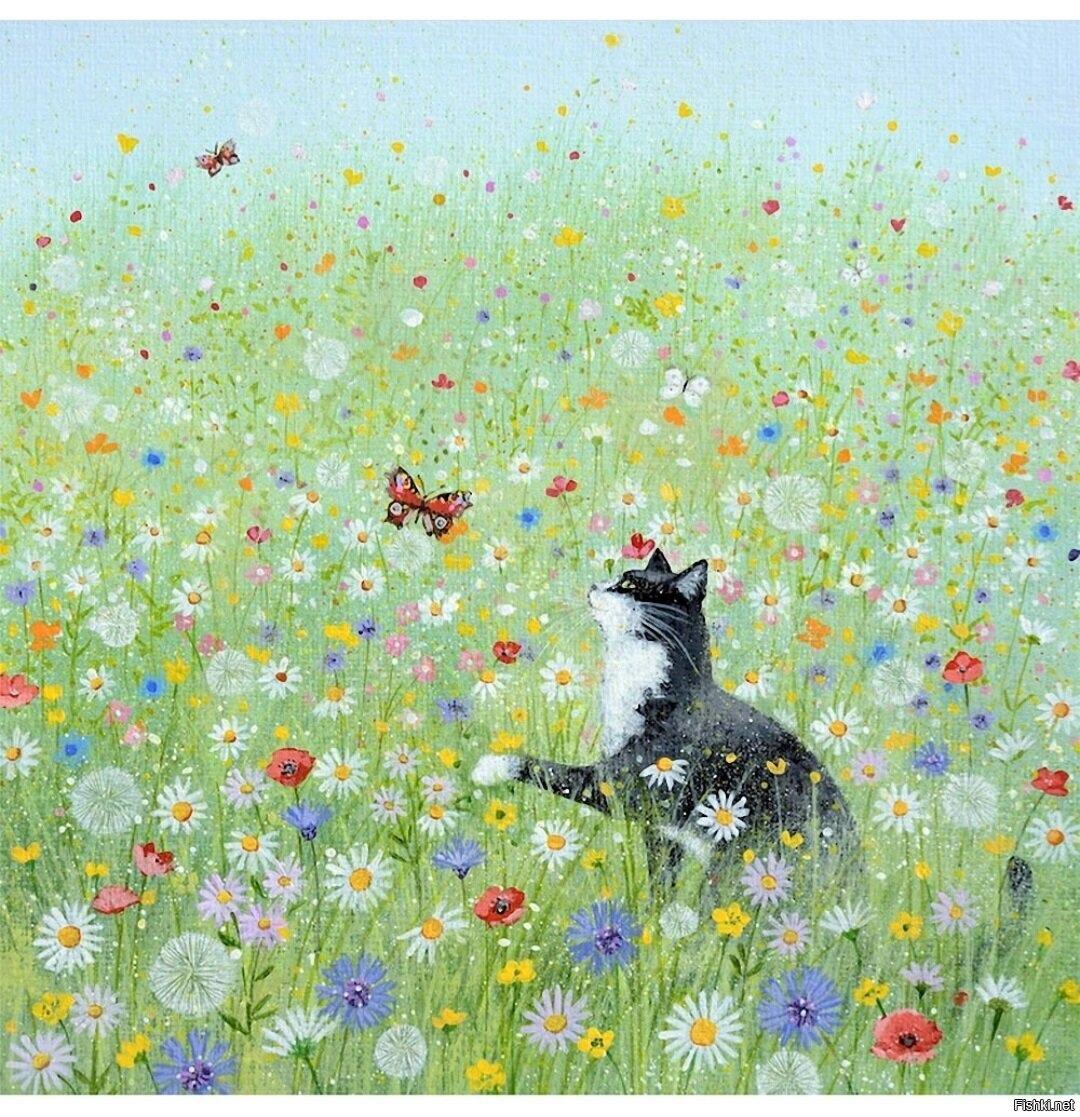 Художник-самоучка Люси Гроссмит создает картины в жанре наивной живописи.