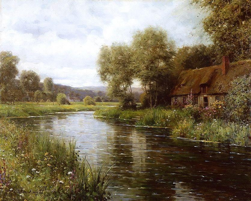 Художник-пейзажист Louis Aston Knight творил свои замечательные лесные шедевры маслом.