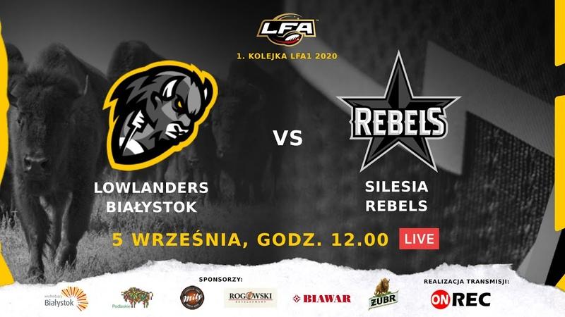 Lowlanders Białystok - Silesia Rebels | LIVE | LFA 2020 | 05.09.2020