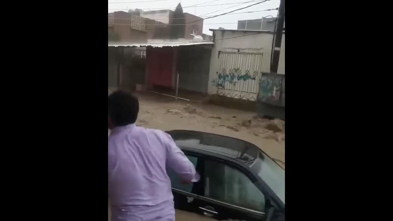 Мощное наводнение в городе Сана Йемен 29 07 2020