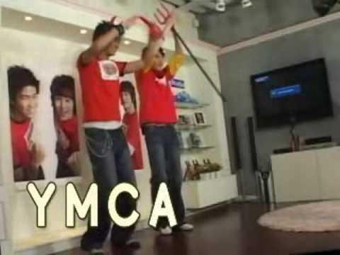 2PM TaecYeon NichKhun dance to YMCA J's Studio