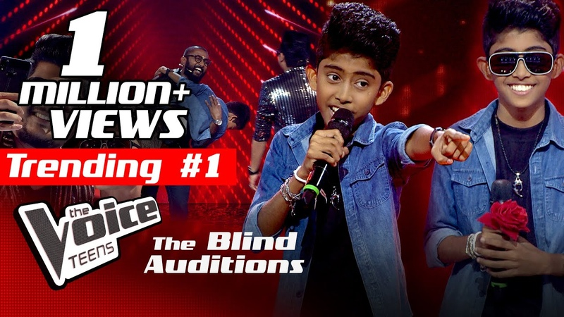Pathum Salinda | Sanwedana (සංවේදනා) | Blind Auditions | The Voice Teens Sri Lanka