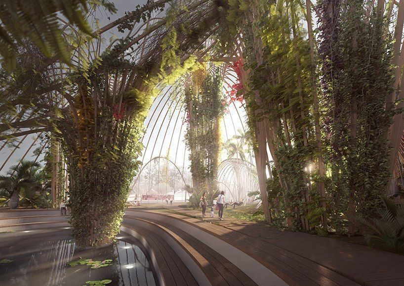 utopia architects envisions the first cultural indoor park in stockholm