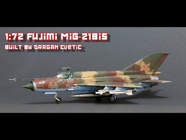 MiG 21Bis Soviet VVS 1 72 Fujimi Full Video Build