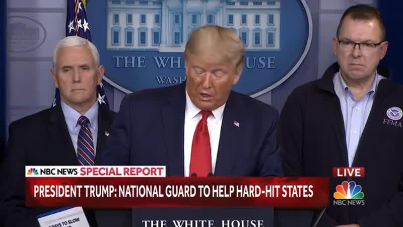 Trump Deploys National Guard To Help States Respond To The Coronavirus NBC News