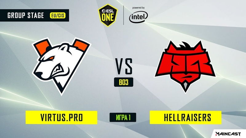 Virtus.pro vs HellRaisers - Game 1, Group A - ESL One Los Angeles 2020 - Online Championship