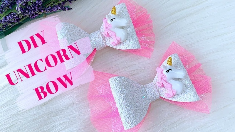 DIY Baby Hair Bow How To Make Unicorn Glitter Bow Hair Bow Tutorial Miss O Crafts