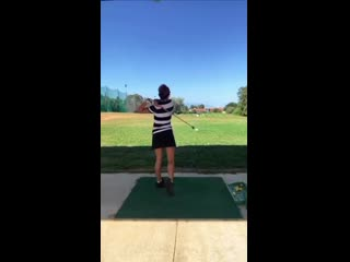 The grunt is from tennis, but the swing is from golf