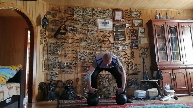 Любимое упражнение с 16 кг гирями