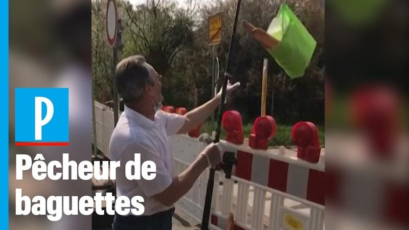 Frontière franco allemande : il utilise une canne à pêche pour r cup rer son pain