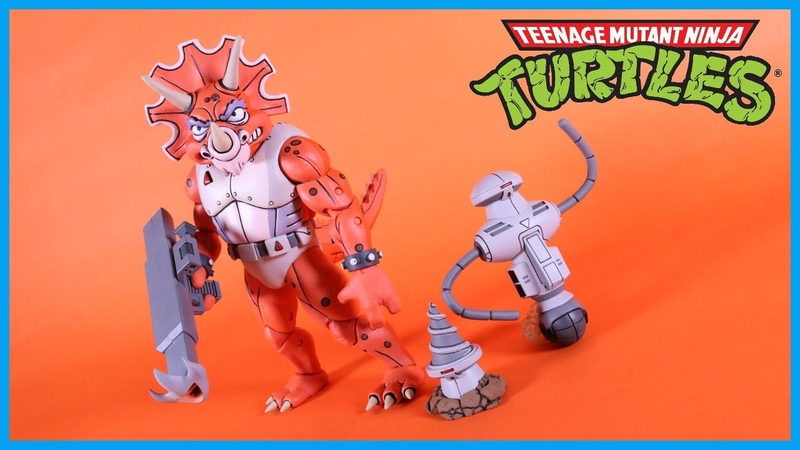 NECA Toys Teenage Mutant Ninja Turtles TRICERATON INFANTRYMAN ROADKILL RODNEY Action Figure Review