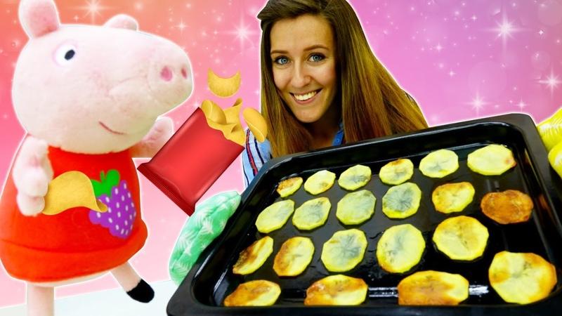 Hacemos patatas fritas con Peppa Pig. Juego de cocina para niños. Recetas de cocina