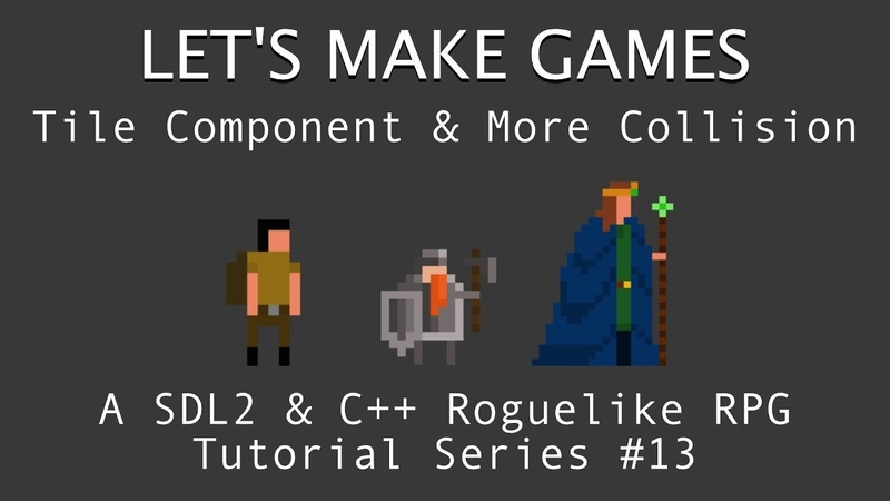 How To Make Games 13 Tile Component More Collision Detection C And SDL2