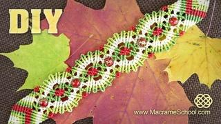 Macramé Autumn / Fall Bracelet Tutorial / Macrame School