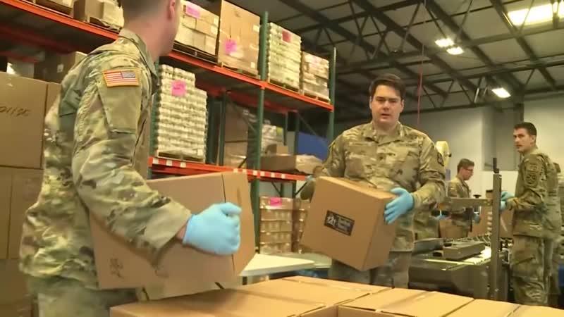 National Guard Soldiers Deployed To Give Major Assist At Sacramento Food Bank